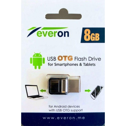 Everon 8GB USB Flash Bellek Dual Drive OTG