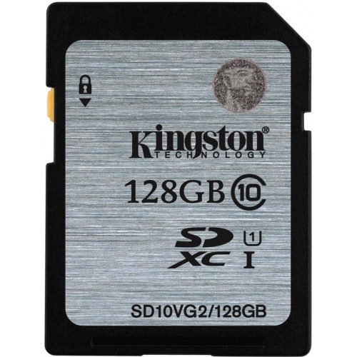 Kingston 128GB SD SDXC Class 10 Hafıza Kartı 45MB/s SD10VG2/128GB