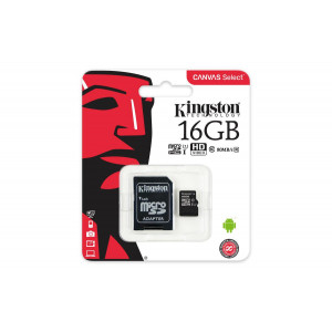 Kingston 16GB Micro SD Hafıza Kartı Class10 U1 80MB/s SDCS/16GB