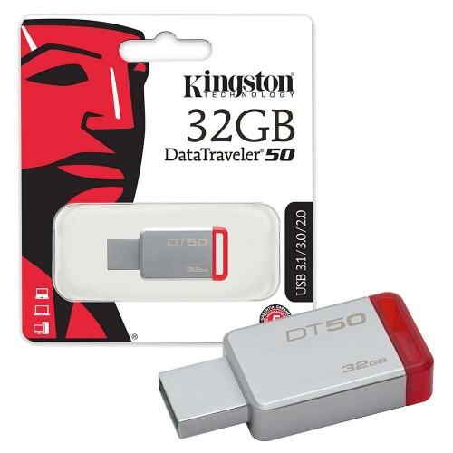 Kingston 32GB USB 3.1 3.0 Flash Bellek DT50/32GB