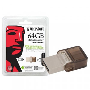 Kingston 64GB USB 2.0 Flash Bellek Micro Duo OTG DTDUO/64GB