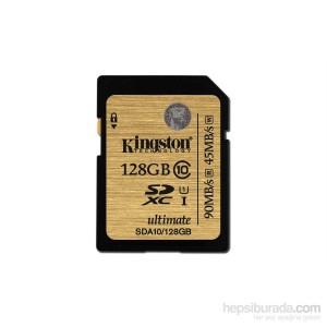 Kingston 128GB SD Ultimate C10 Hafıza Kartı SDA10/128GB